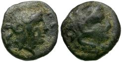 Ancient Coins - Mysia. Pergamon Æ9 / Herakles and Athena