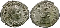 Ancient Coins - Gordian III (AD 238-244) AR Denarius / Apollo
