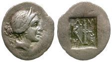 Ancient Coins - Lycian League. Masikytes AR 1/4 Drachm / Lyre