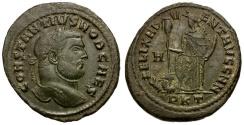 Ancient Coins - Constantius I as Caesar Æ Follis / Carthage