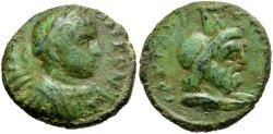 Ancient Coins - Caracalla. Samaria. Caesarea Maritima Æ20 / Serapis