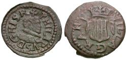 Ancient Coins - Spain. Local Civic Coinage. Granollers. Philip III (1598-1621) Æ Dinero