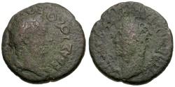 Ancient Coins - Augustus with Tiberius.  Macedon. Thessalonika Æ23