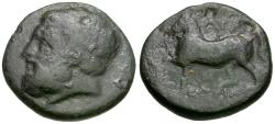 Ancient Coins - Thessaly. Gyrton Æ21 / Horse