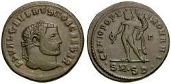 Ancient Coins - Severus II Caesar Æ Follis / Genius