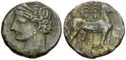 Ancient Coins - Zeugitania. Carthage. Second Punic War BI Dishekel / Horse