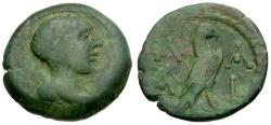 Ancient Coins - Peloponnesos. Lakedaemon (Sparta) Æ20 / Eagle