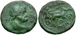 Ancient Coins - Sicily. Menainon Æ18 / Menai