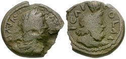 Ancient Coins - Commodus (AD 177-192). Judaea. Aelia Capitolina (Jerusalem) Æ25 / Bust of Serapis