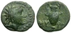 Ancient Coins - Aeolis. Myrina Æ11 / Helios