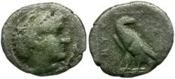 Ancient Coins - Kings of Macedon. Amyntas III AR Diobol / Eagle