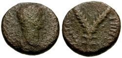Ancient Coins - Trajan, Judaea Sepphoris, Diocaesarea Galilee Æ14 / Lindgren Plate Coin