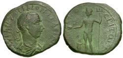 Ancient Coins - Trajan Decius (AD 249-251). Cilicia. Celenderis Æ26 / Poseidon