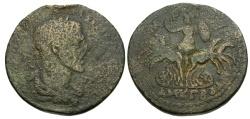 Ancient Coins - Maximinus I Thrax.  Cilicia.  Tarsos Æ36 / Athena in Spread Quadriga