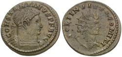 Ancient Coins - Constantine I the Great (AD 306-337) Æ Follis / Bust of Sol