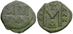 Ancient Coins - *Sear 1607* Byzantine Empire. Nicephorus I (AD 803-811) with Stauracius Æ Follis