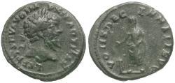 Ancient Coins - Septimius Severus (AD 193-211) Limes Denarius / Septimius Sacrificing