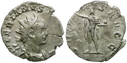 Ancient Coins - Valerian I (AD 253-260) AR Antoninianus / Sol