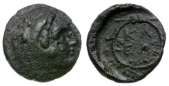 Ancient Coins - Argolis. Kleonai Æ14 / Herakles and Ethnic