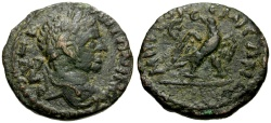 Ancient Coins - Elagabalus, Syria, Seleucia and Pieria, Emisa Æ19 / Eagle