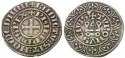 World Coins - France. Royal. Philippe IV le Bel (the Fair). (1285–1314) AR Maille tierce