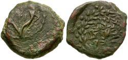 Ancient Coins - Judaea. Hasmonean Kingdom. Alexander Jannaeus Æ Prutah