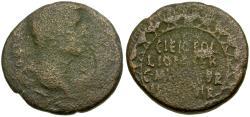 Ancient Coins - Augustus. (27 BC-AD 14) Corinth Æ20 / Wreath