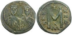 Ancient Coins - *Sear 1630* Byzantine Empire. Leo V the Armenian, with Constantine Æ Follis
