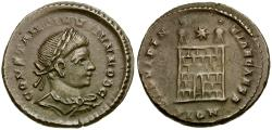 Ancient Coins - Constantine II as Caesar Æ Follis / Camp gate