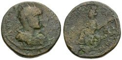Ancient Coins - Gordian III. Phoenicia. Arados Æ29 / Tyche Seated
