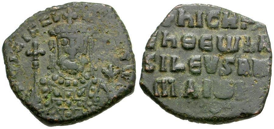 Ancient Coins - *Sear 1783* Byzantine Empire. Nicephorus II Phocas (AD 963-969) Æ Follis