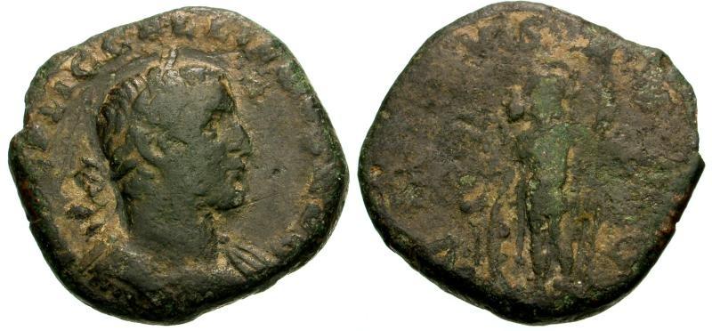 Ancient Coins - Gallienus Æ Sestertius / Virtus