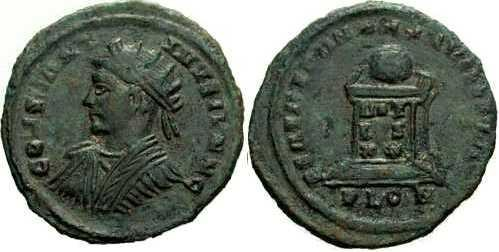 Ancient Coins - VF/VF Constantine the Great / Altar London Mint