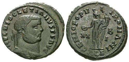 Ancient Coins - VF/VF Diocletian AE Large Follis / Genio