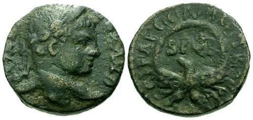 Ancient Coins - aVF/aVF Severus Alexander Judaea Caesarea-Maritima AE21 / Eagle