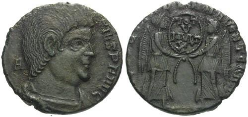 Ancient Coins - VF/VF Magnentius AE3 / Two Victories