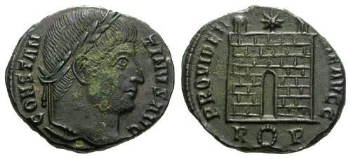 Ancient Coins - EF/EF Constantine the Great / Campgate