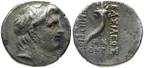 Ancient Coins - VF/VF Demetrios I AR Drachm / Cornucopia