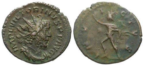 Ancient Coins - VF/F Victorinus Antoninianus / Sol