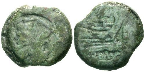 Ancient Coins - gF/gF Roman Republic AS / Helmet