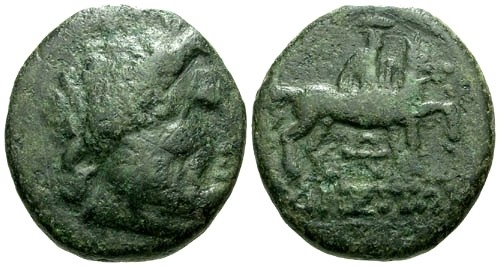 Ancient Coins - F/gF Thrace Odessos AE21 / Horse and rider