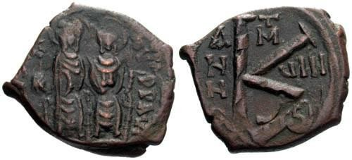 Ancient Coins - F+/F+ Justin II Half Follis