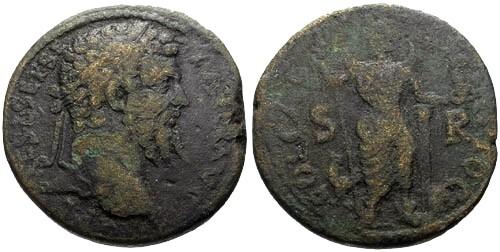 Ancient Coins - gF+/F Septimius Severus Pisidia Antiochia AE31 / Men