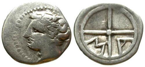 Ancient Coins - F+/F+ MA Obol of Massalia Gaul