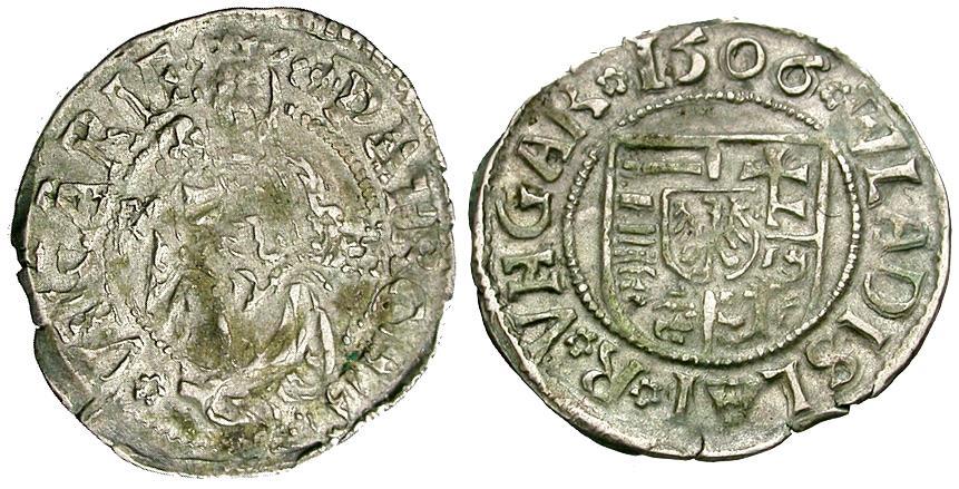 World Coins - Hungary. Wladislaus II (1490-1516) AR Denar