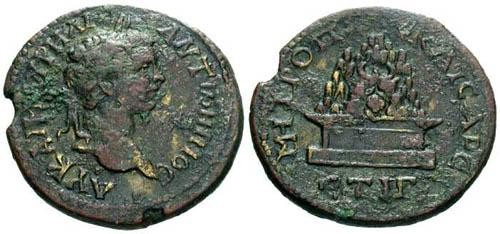Ancient Coins - F+/aVF Caracalla AE29 Cappadocia Caesarea / Mount Argaeus