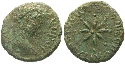 Ancient Coins - F/VF Septimius Severus AE Philippopolis Thrace / Eight rayed Star