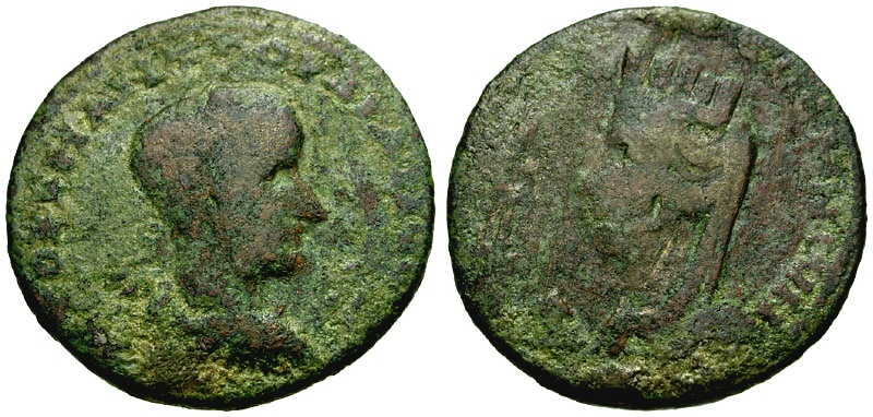 Ancient Coins - Gordian III, Mesopotamia Edessa Æ29 / Bust of Tyche