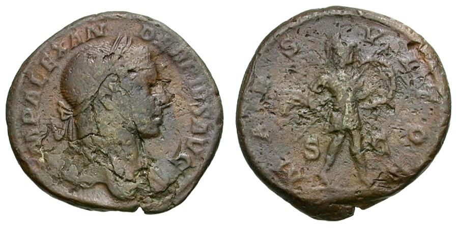 Ancient Coins - Severus Alexander Æ AS / Mars