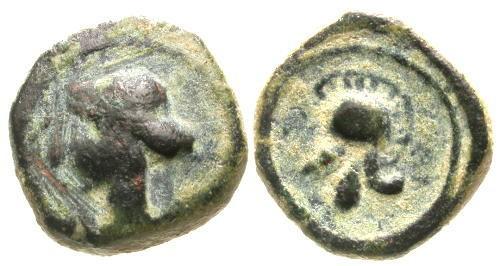 Ancient Coins - VF/VF Carthagonova 1/4 Calco / Helmet